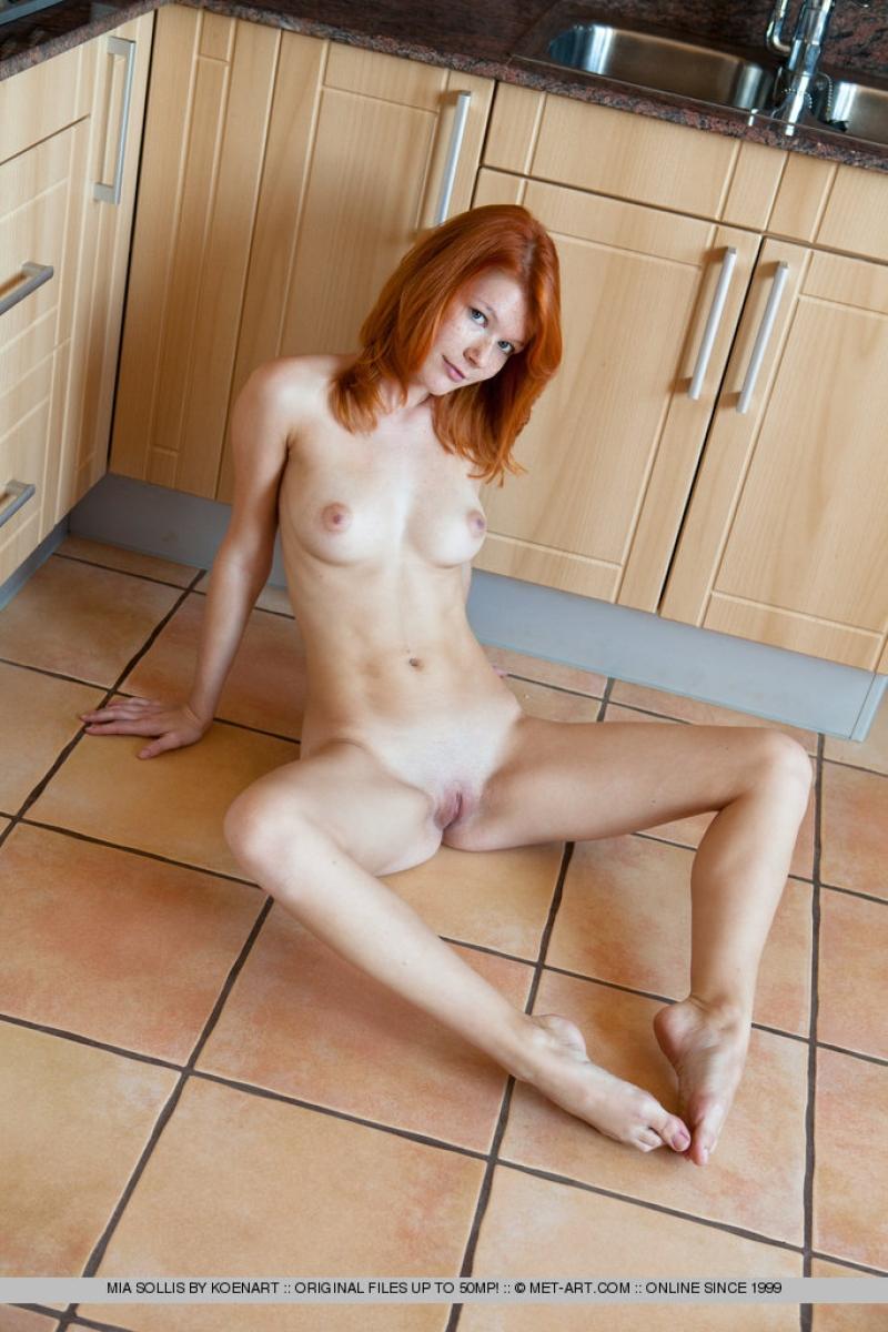 Redhead Girls Nude In Kitchen