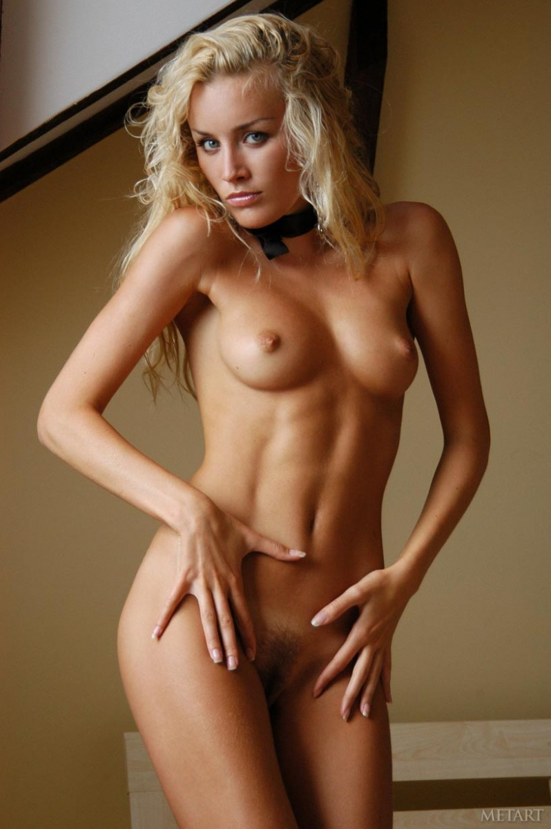Teasing naked blonde curly Unbelievable