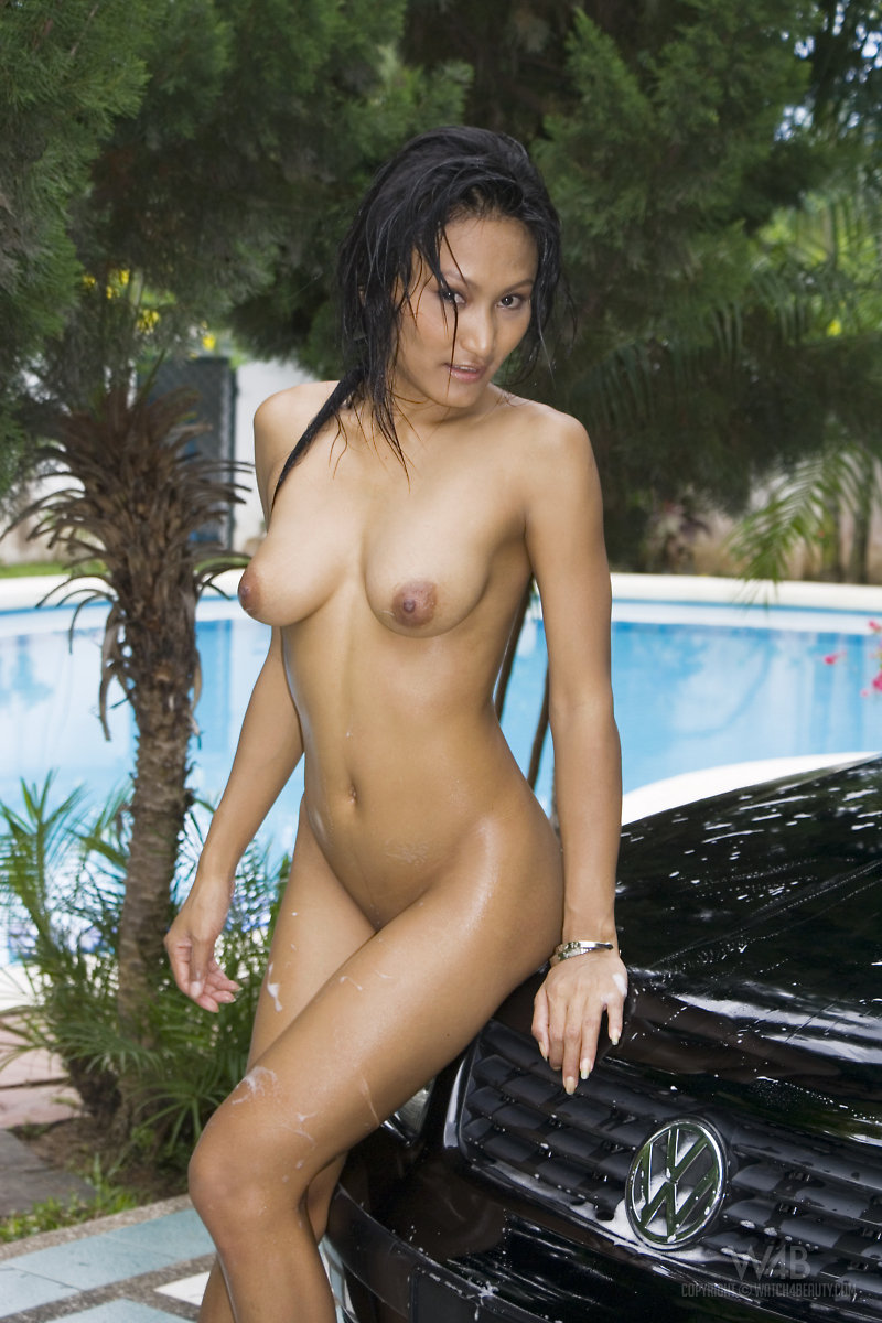 Amusing Naked young girl with car opinion you
