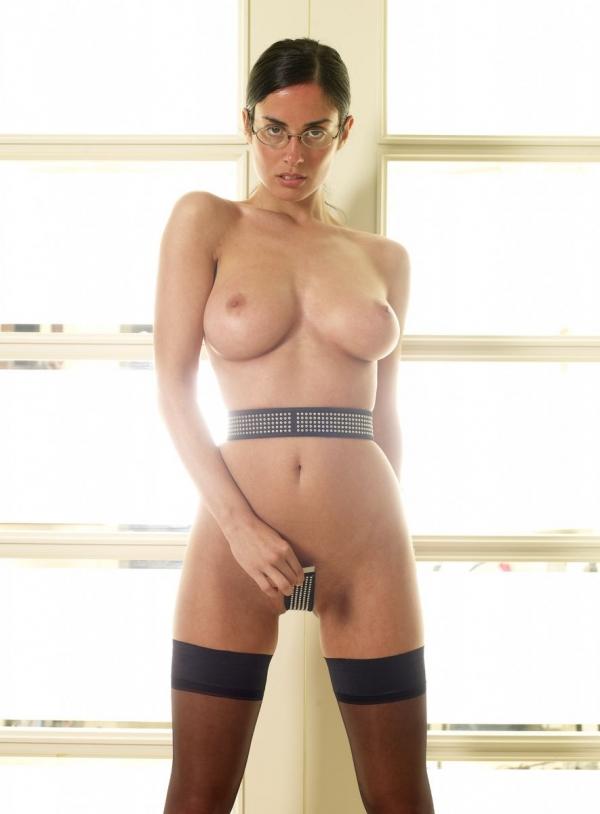 Naked girl butt on bed