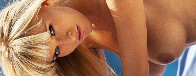 Busty Blonde Cikita Strips Off Her Pink Bikini
