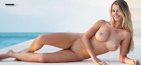 Perky nude breasts