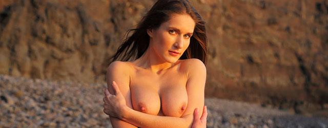 Elina at the Beach