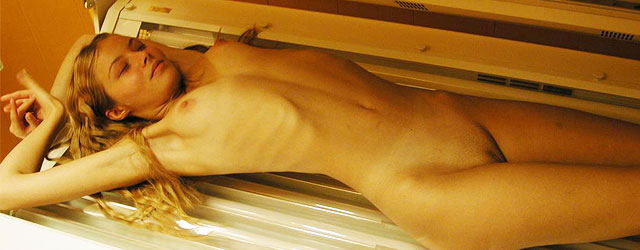 Girl in a Tanning Bed
