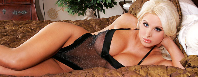 Krista Santoro In A Sheer Black Lingerie