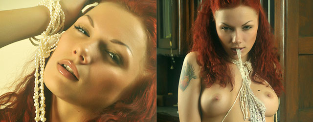 Seductive Tattooed Redhead Posing Naked