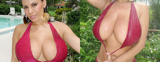 Wet Latin Boobs