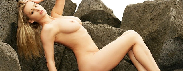 Zdenka Podkapova Nude On The Rocks
