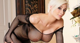 busty-marie-claude-in-mesh-dress-and-thong