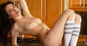 aiden-ashley-strips-naked-in-the-kitchen