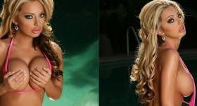 busty-bikini-blonde-alexandra-posing-wet