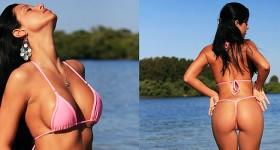 janessa-brazil-wearing-a-sexy-pink-bikini
