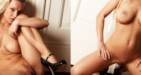 curvy-blonde-model-naked-in-high-heels