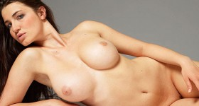 fit-brunette-reveals-her-firm-round-melons