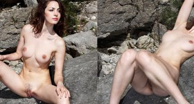 super-hot-and-firm-brunette-poses-in-the-wild