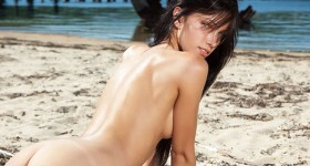 sexy-brunette-strips-on-a-sunny-afternoon