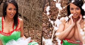 festive-babe-nikki-shows-tits