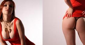 elizabeth-in-a-tight-red-dress