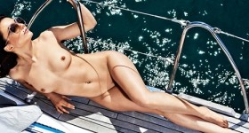 sara-merchnik-nude-on-a-big-boat