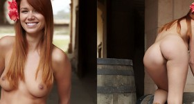 babe-naked-on-a-barrell