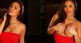 justene-jaro-in-a-red-dress