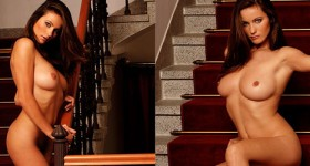 kyla-nude-on-stairs