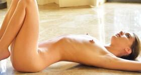 kenna-james-naked-on-marble-floor