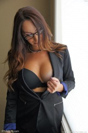 Busty Cougar with Glasses