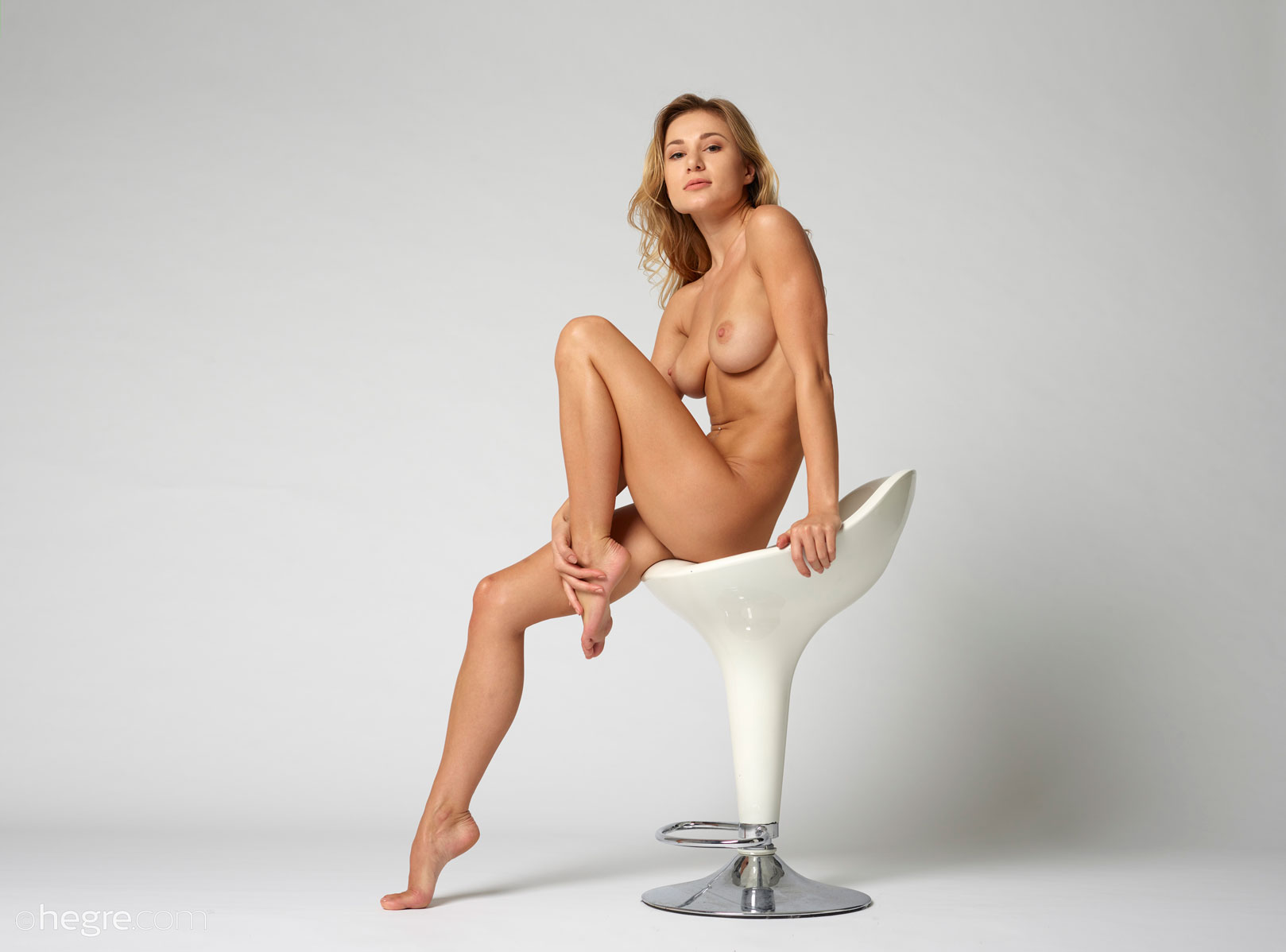 Girs on chairs naked something