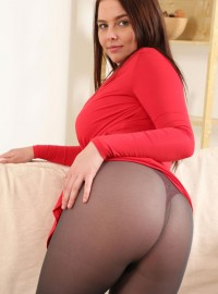 Busty Kay in Pantyhose