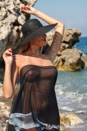 Lubed Beach Babe