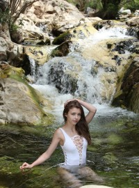 Mila Azul White Swimsuit
